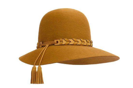 黄色时尚女帽