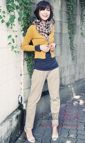 淑女衫+长裤 秋天时髦搭配这样穿